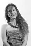 Jeune femme heureuse de beauté Image libre de droits