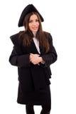 Jeune femme heureuse le de remise des diplômes Image stock