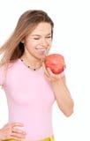 Jeune femme heureux avec les yeux fermés photo libre de droits