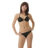 Jeune femme heureux dans le bikini Photographie stock