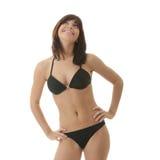 Jeune femme heureux dans le bikini Image libre de droits