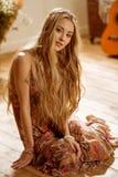 Jeune femme hippie photos stock