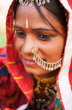 Jeune femme indienne traditionnelle Photos libres de droits