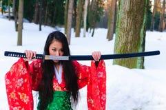 Jeune femme japonaise Images stock