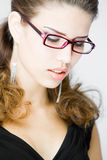 Jeune femme méditative Photographie stock