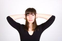 Jeune femme malheureuse Photo libre de droits