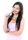 Jeune femme mignon avec des lunettes Photo stock