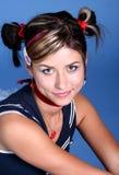 Jeune femme mignon avec des tresses Photos stock
