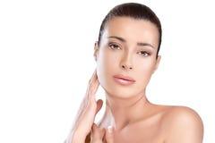 Jeune femme naturelle magnifique Concept de soins de la peau et de beauté Photo libre de droits