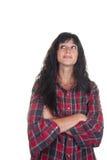 Jeune femme occasionnelle Image libre de droits