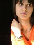 Jeune femme pensive Photos stock
