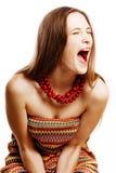 Jeune femme pleurante de beauté Photos libres de droits