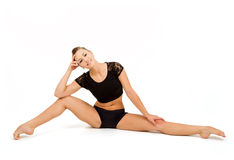 Jeune femme professionnelle de gymnaste Images libres de droits
