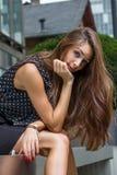 Jeune femme réfléchie Photos stock