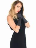 Jeune femme réservée timide Photo stock