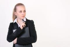 Jeune femme réussie d'affaires image stock