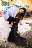 Jeune femme rebelle photos libres de droits