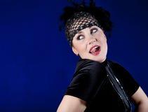 Jeune femme rectifié dans un costume du danseur Photo stock