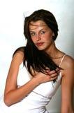 Jeune femme renversante Photographie stock