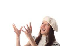 Jeune femme riant heureux recherchant photographie stock libre de droits