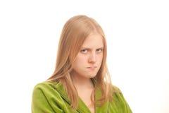 Jeune femme sérieuse photos stock