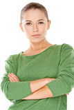 Jeune femme sérieuse sûre photo libre de droits