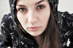 Jeune femme sensible Photographie stock libre de droits