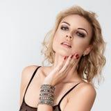Jeune femme sensuel dans la lingerie Photographie stock