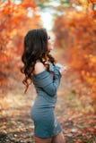 Jeune femme sexy dans la forêt d'automne Photo libre de droits
