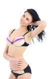 jeune femme sexy dans le maillot de bain Image libre de droits