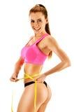 Jeune femme sexy se mesurant Perte de poids photos stock