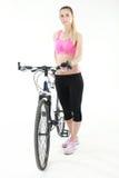 Jeune femme sexy sur un bicykle Photo libre de droits