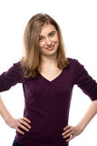 Jeune femme sincère sûre Photos libres de droits