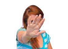 Jeune femme soumise à une contrainte Photographie stock