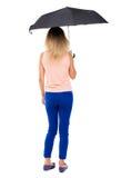 Jeune femme sous un parapluie Images libres de droits