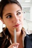 Jeune femme sucessful d'affaires Images libres de droits