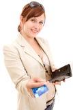 Jeune femme sur des achats Photo stock