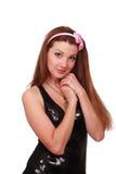 Jeune femme timide Photographie stock libre de droits