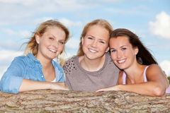 Jeune femme trois attirante Photos stock