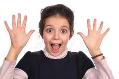 Jeune fille étonnée Photographie stock libre de droits