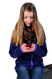 Jeune fille appelle Photographie stock