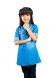 Jeune fille asiatique de sourire image stock