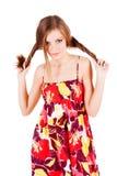 Jeune fille assez de attirance dans la robe image libre de droits