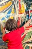 Jeune fille avec la peinture Photo libre de droits