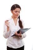 Jeune fille avec la tablette Photo libre de droits