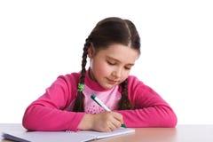 Jeune fille avec le cahier Image libre de droits