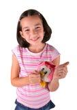 Jeune fille avec le jouet de peluche Image libre de droits