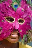 Jeune fille avec le masque Image libre de droits