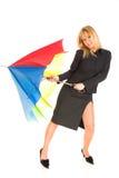 Jeune fille avec le parapluie photographie stock libre de droits