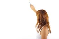 Jeune fille avec le pinceau Photo libre de droits